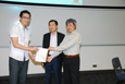 Mr. Philip Leung and Mr. Tommy Cho present souvenir to guest speaker Mr. Willy Lai