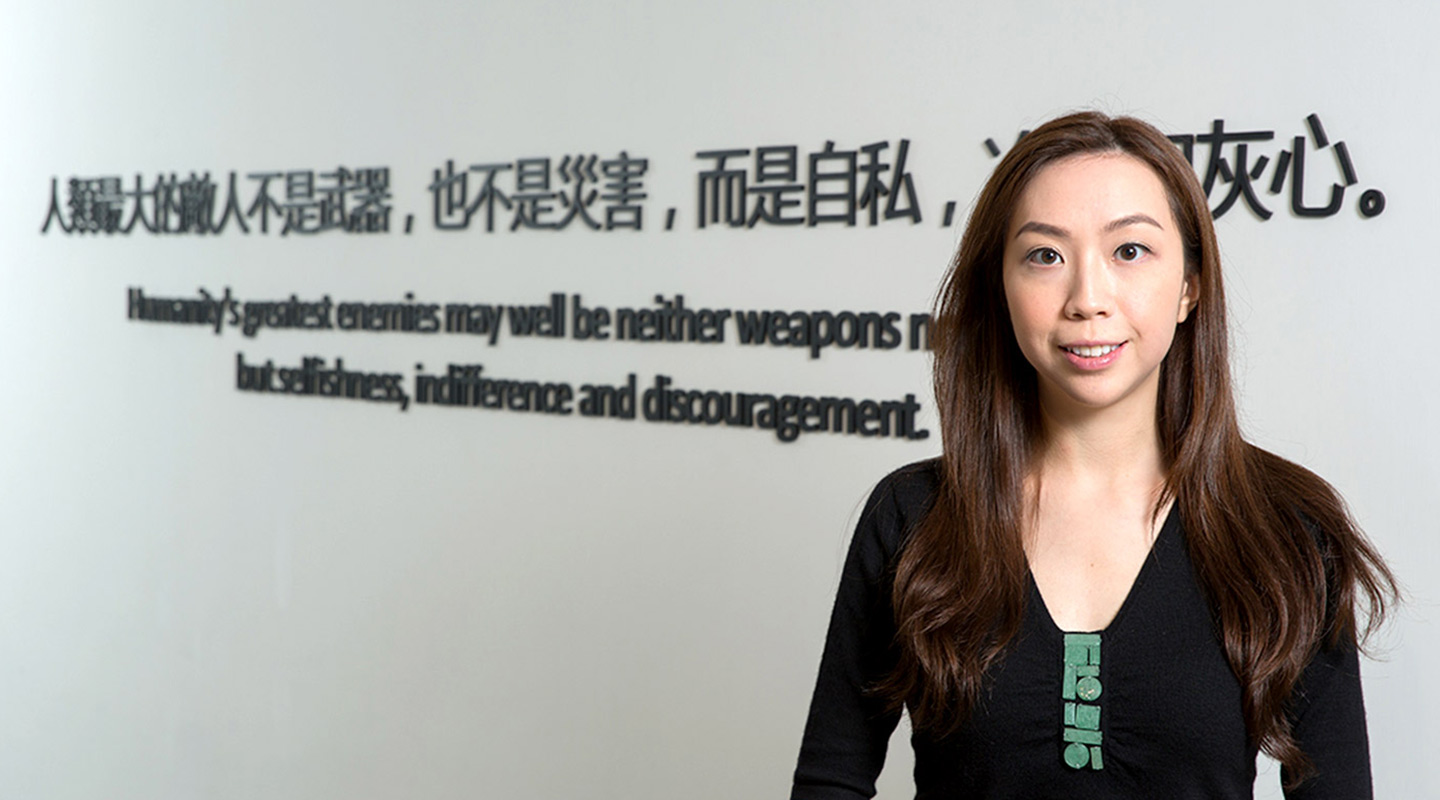 Eliza Cheung, clinical psychologist of the Hong Kong Red Cross