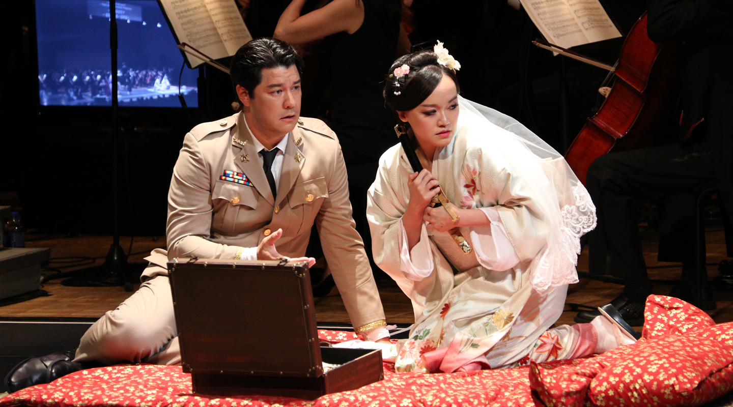 Playing the title role of Cio-Cio-San in <em>Madama Butterfly</em>