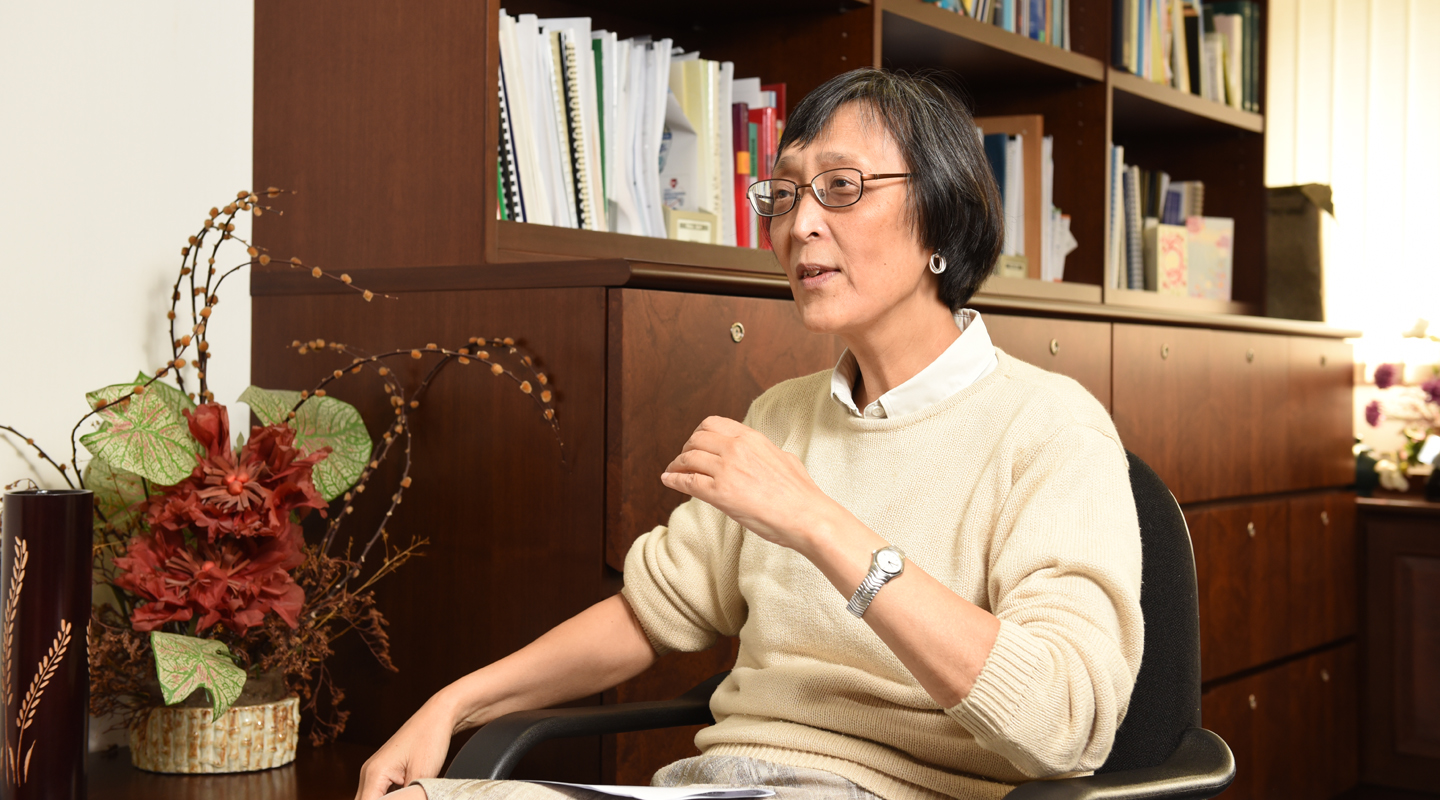 Prof. Jean Woo<br/>Chairman, Department of Medicine and Therapeutics<br/>Director, CUHK Jockey Club Institute of Ageing <br/><em>(Photo by ISO staff)</em>
