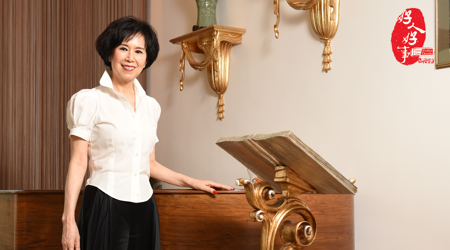 Joy Chung: 'Everyone can contribute in their way no matter how little they have.' <em>(Photo by ISO staff)</em>