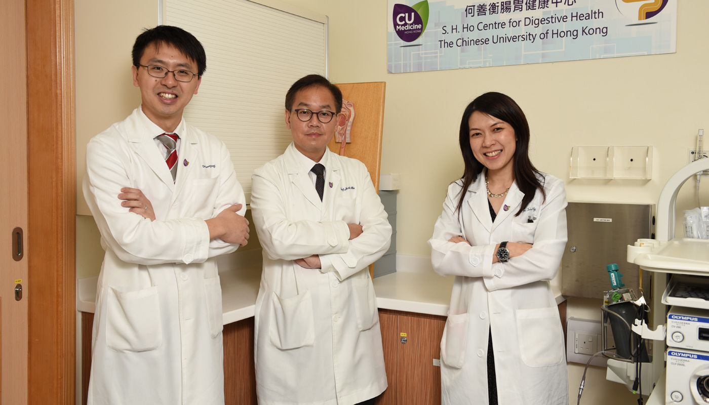 From left: Prof. Sunny Wong, Prof. Justin Wu, Prof. Siew Ng <em>(Photo by ISO staff)</em>