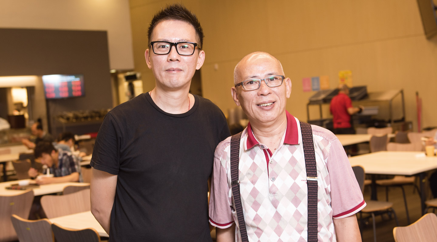 Mr. Timmy Tsang (right) and Mr. Johnny Liu (left) <em>(Photo by ISO staff)</em>