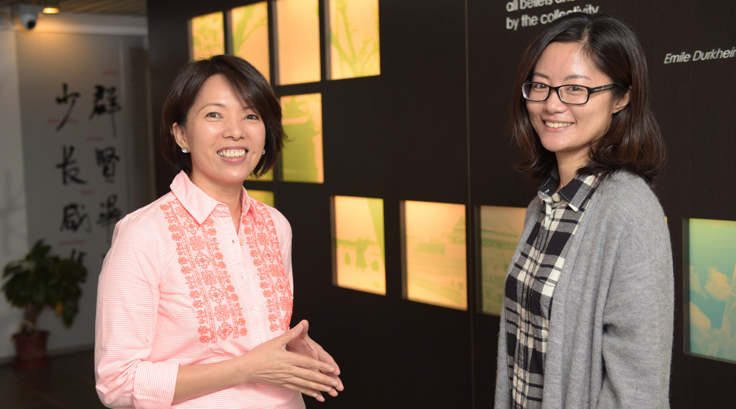 Prof. Susanne Choi (left) and Ms. Luo Ming <em>(Photo by ISO Staff)</em>