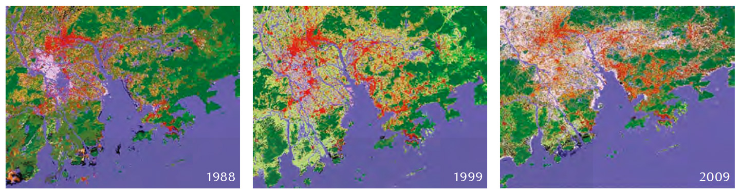 The Pearl River Delta region's local climate zone maps unveil the urban development over two decades