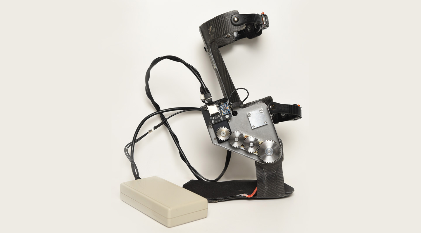 The Interactive Exoskeleton Ankle Robot co-invented by Prof. Raymond Tong