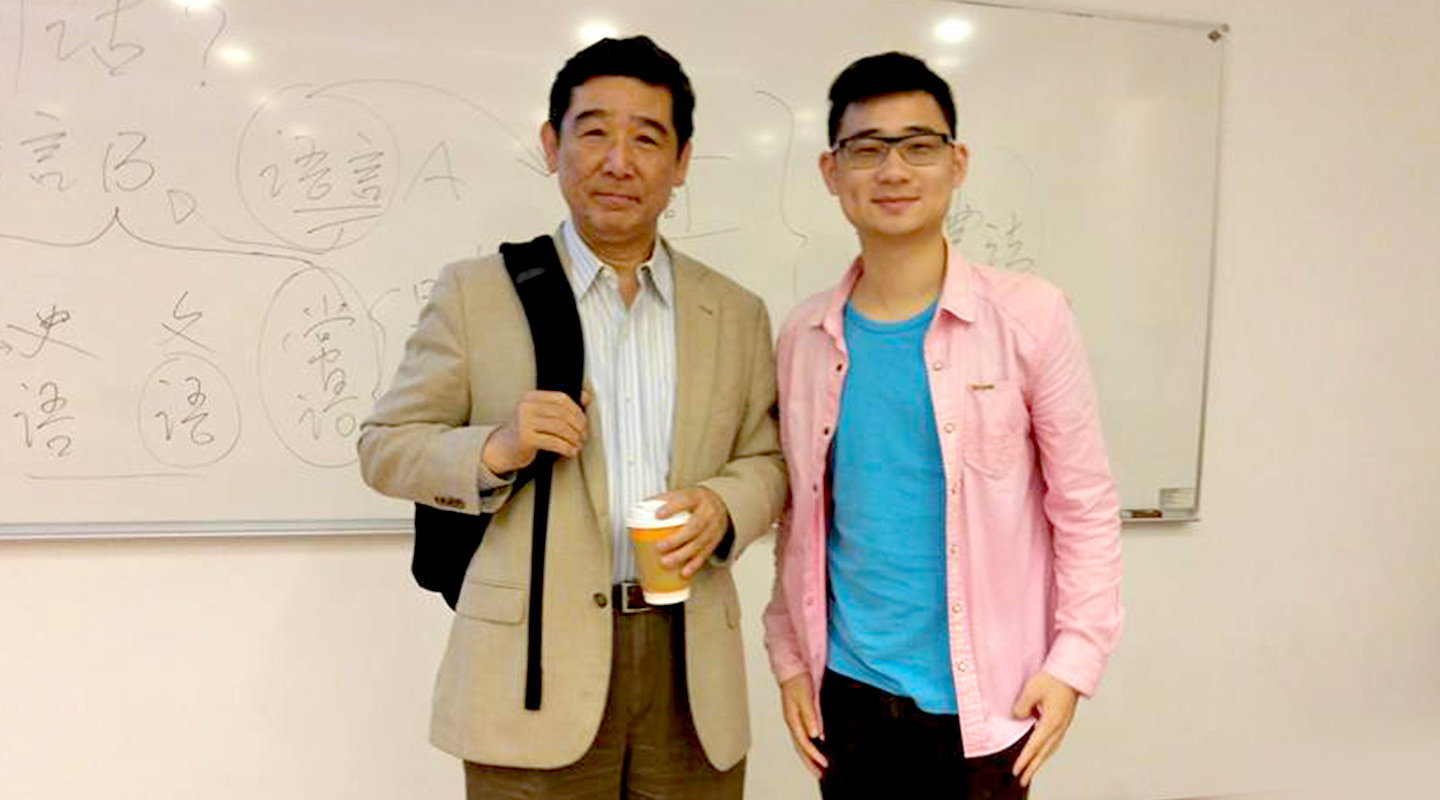 Jonathan Lee and Prof. Feng Shengli <em>(left)</em>