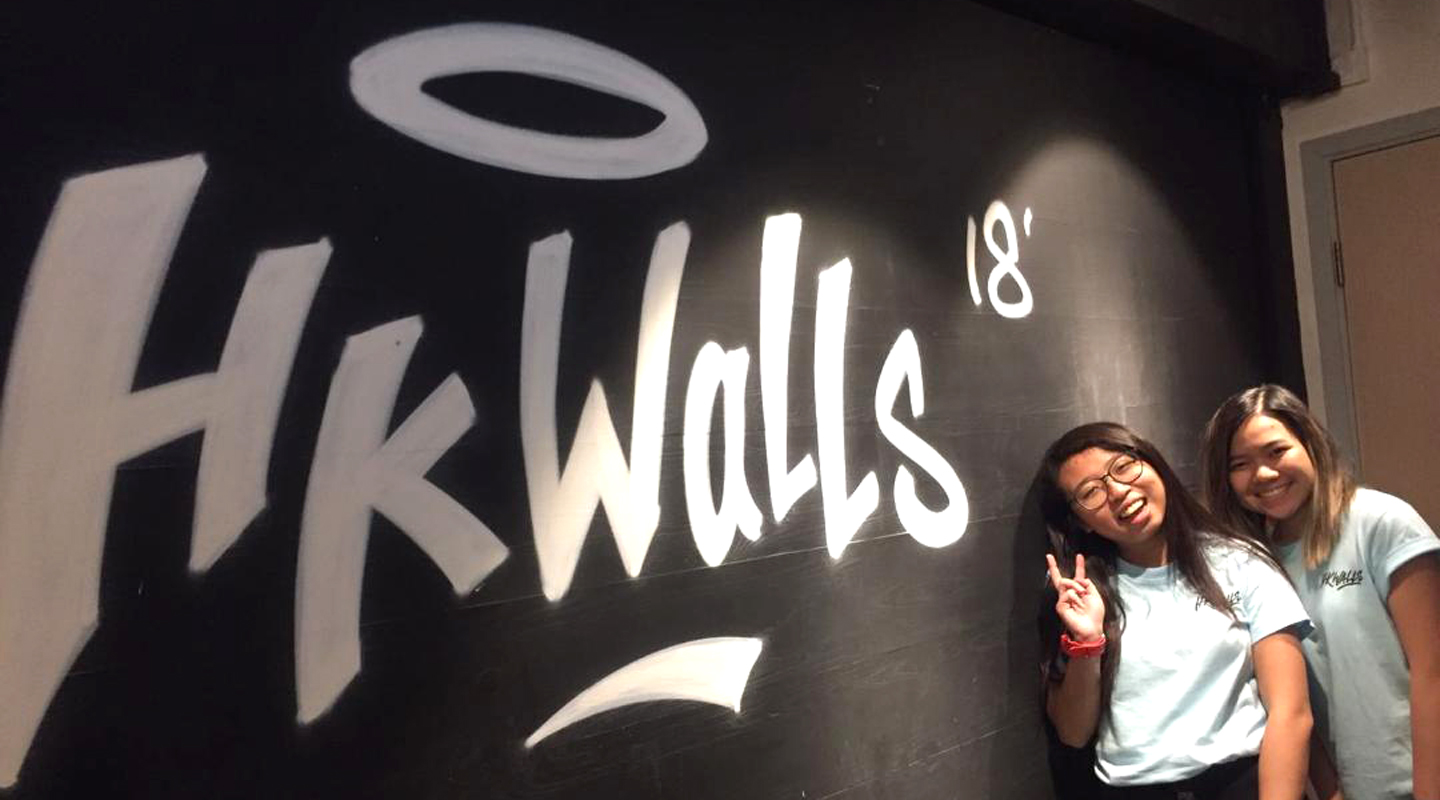 Amy Tong <em>(left)</em> undertakes an internship with HKwalls Festival