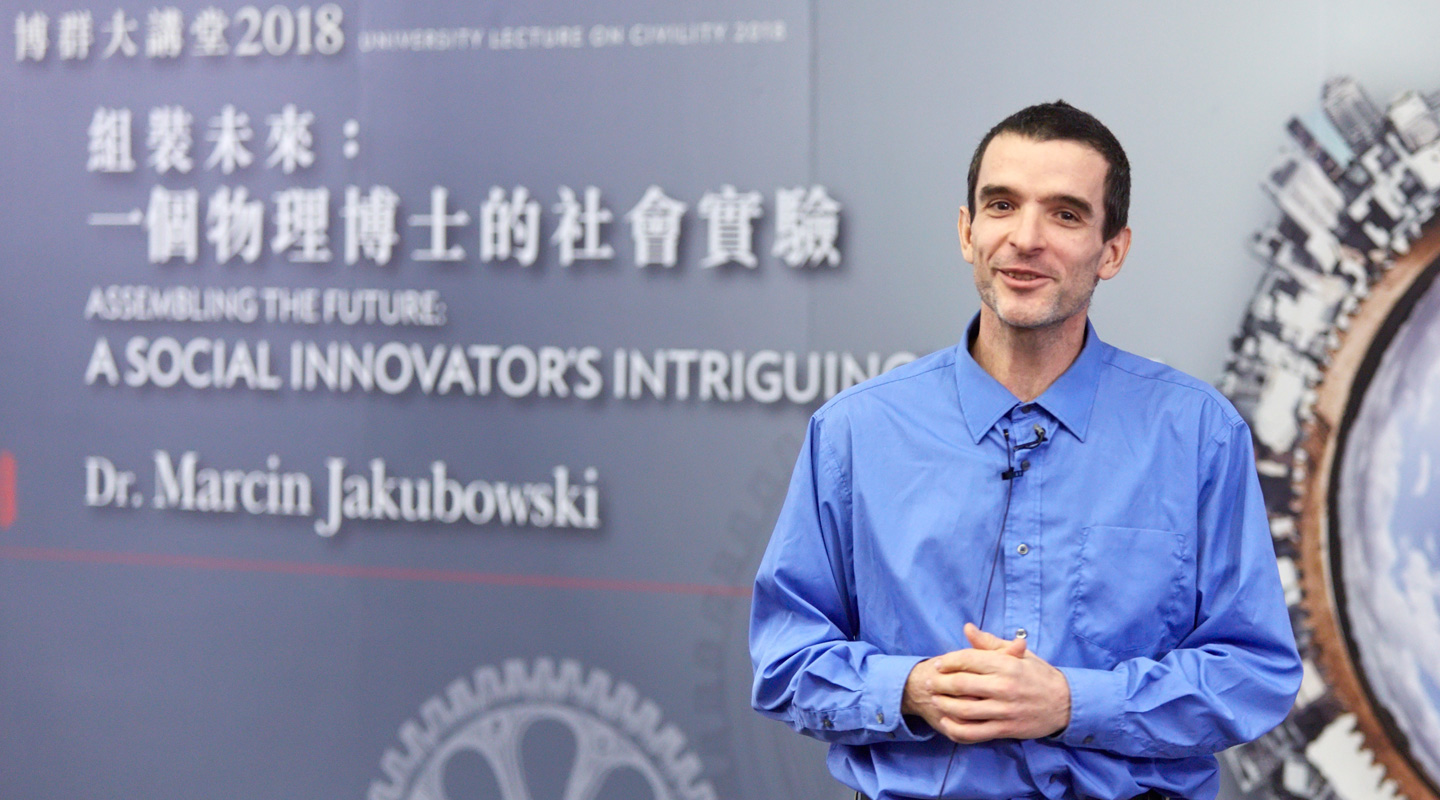 Dr. Marcin Jakubowski, Founder and Executive Director of Open Source Ecology