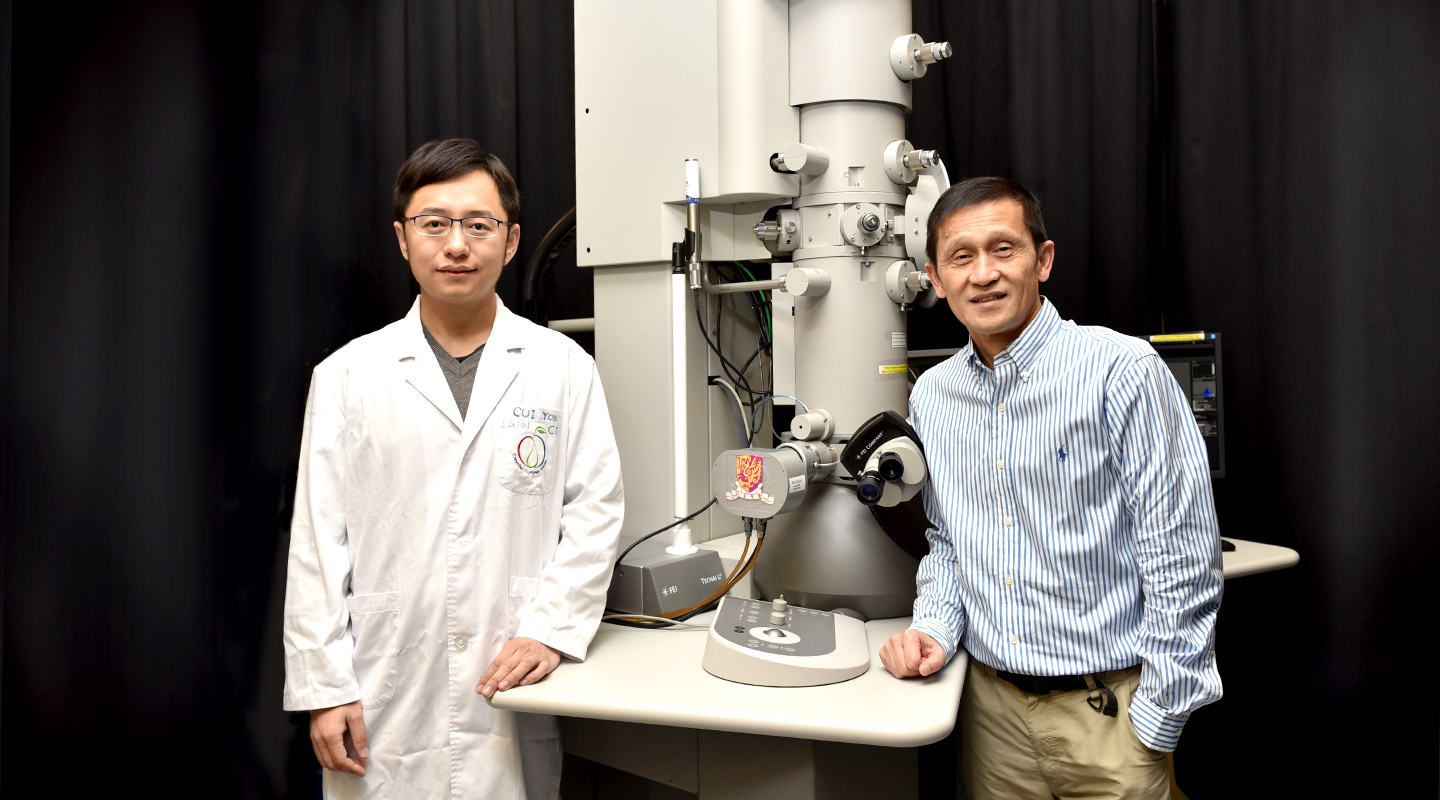 Prof. Jiang Liwen <em>(right)</em> and postdoctoral fellow Dr. Cui Yong