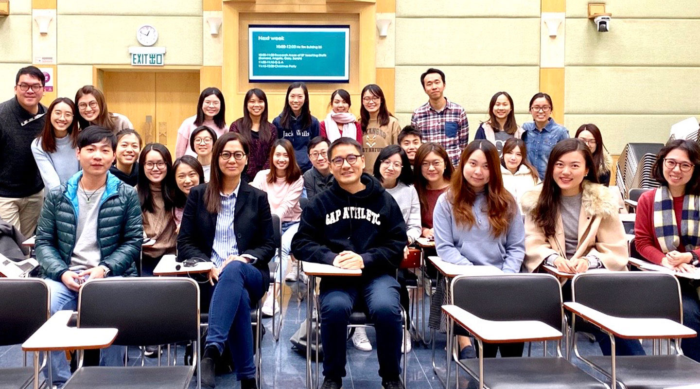 The class with Sarah (front row, second left) and Prof. Harold Chui (front row, third left)