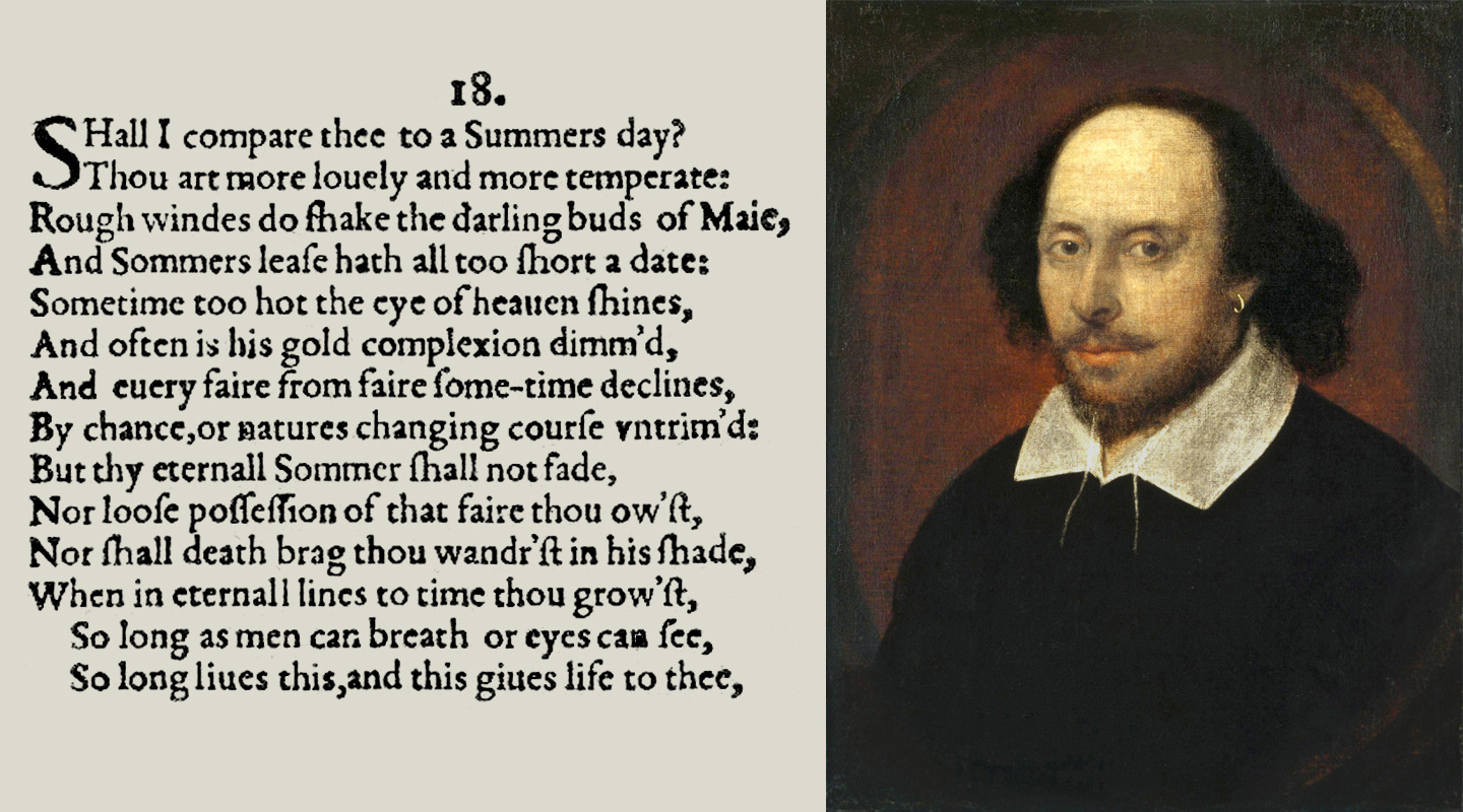 Shakespeare's Encoded Summer's Day