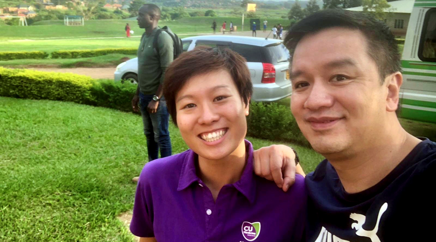 Rachel with Prof. Patrick Yung (right) in Uganda <em>(courtesy of Professor Yung)</em>