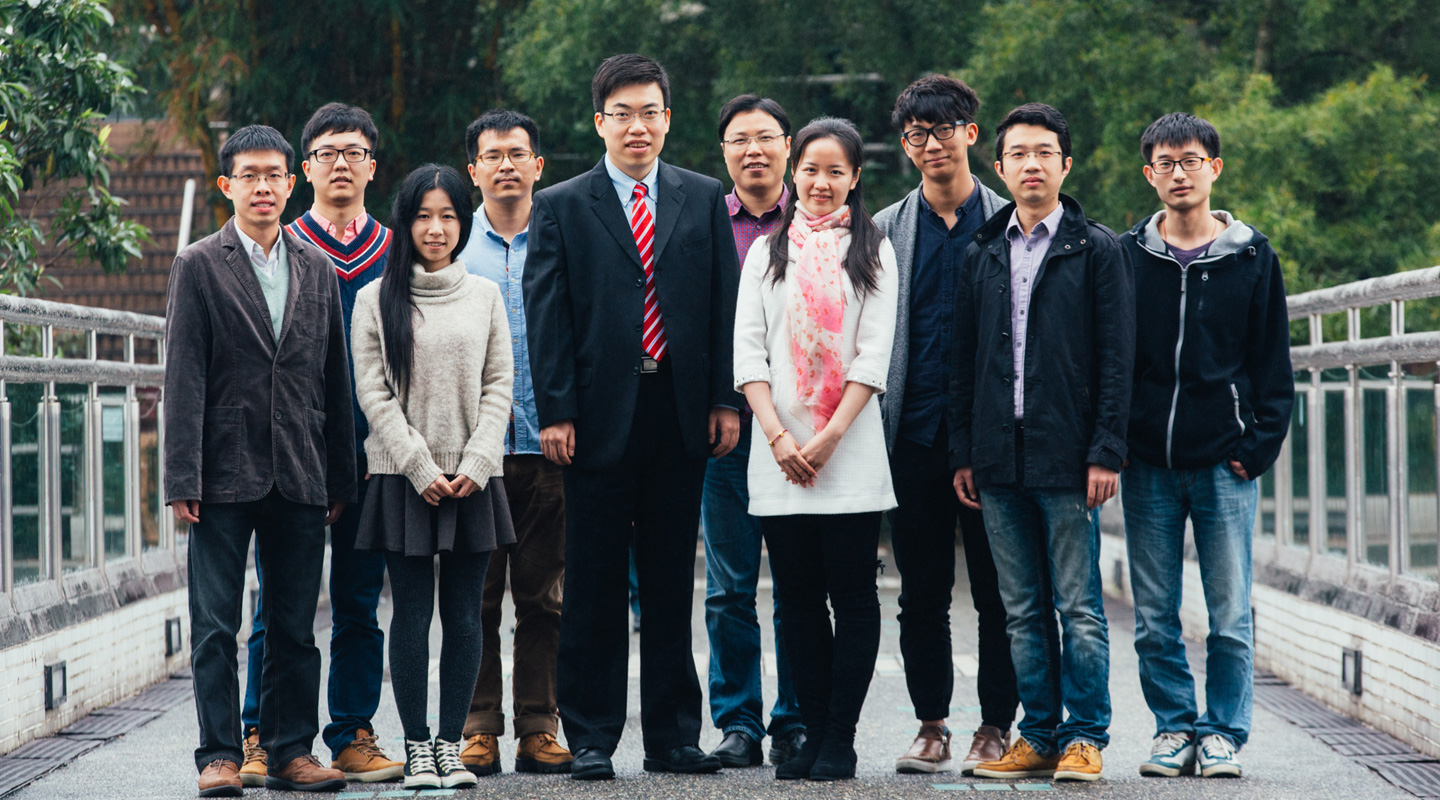 Professor Huang and his research students