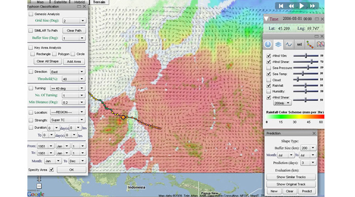 Web-based system for typhoon prediction and analysis