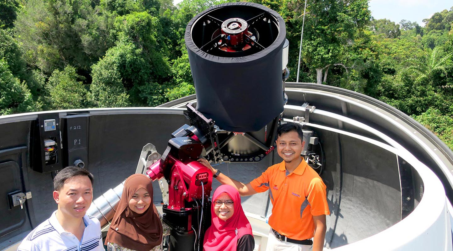 Constructing a 0.5 m aperture telescope for Langkawi National Observatory in Malaysia <em>(Courtesy of the interviewee)</em>