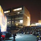 新亚书院圆形广场是学生休憩及举办活动热门地点,包括千人宴、国术会夜粥及电影晚会等。
