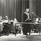 Dr. Choh-ming Li spoke at the academic exchange agreement signing ceremony with the University of California on 26 August 1965