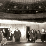 Sir Murray MacLehose in the newly completed Cho Yiu Conference Hall in 1972