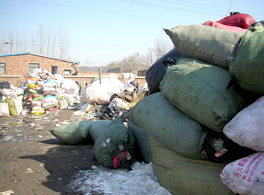<em>All kinds of waste are collected and stored in the collectors' homes for sorting and initial cleaning</em>