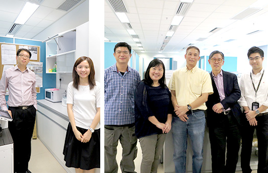 <em>From left: functional manager Richard Lee, project coordinator Shirley Ng and CDO Project Team spearheaded the acquisition of second-hand furniture and equipment (Source: Institute of Ageing, Campus Development Office)</em>