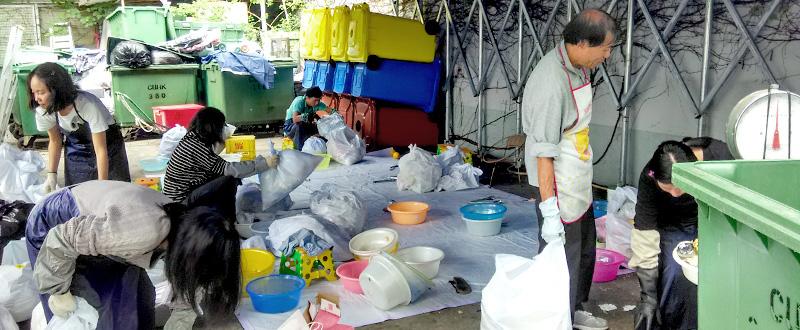 <em>Audit of contents of trash bag samples by workers of Secure Information Disposal Services Ltd</em>